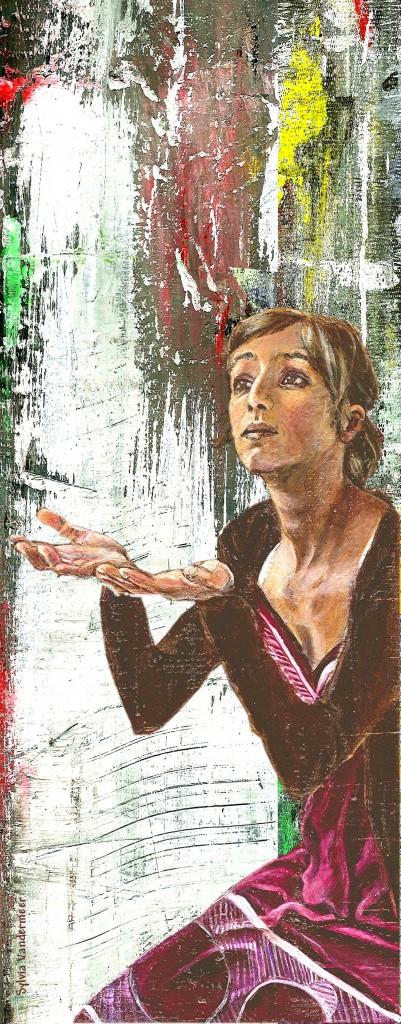 Sehenswert sind die Bilder der Wanderausstellung wie dieses der Künstlerin Sylvia Vandermeer.