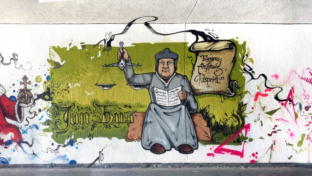 Graffiti Jan Hus; © www.eminhasirci.com