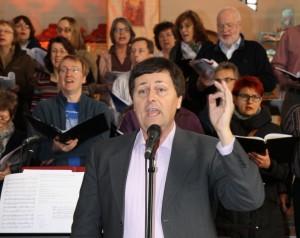 Workshop mit Wilfried Kaets zum Neuen Geistlichen Lied. Foto: Wilmes
